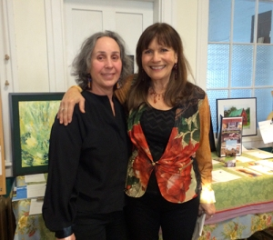 Eve Schatz, Founder & Executive Director with Susan Solovay, BCJ's graphic designer